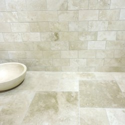 Chablis honed & filled Travertine Tiles