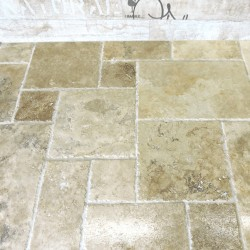 Pimlico rustico brushed & chipped edge Travertine Tiles