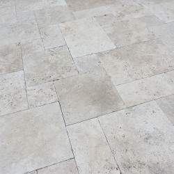 Pimlico tumbled travertine pavers 30mm