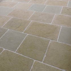 Chateux ocra tumbled & semi honed Limestone Tiles
