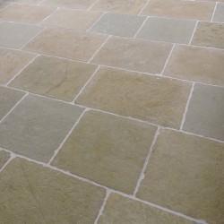 Chateux ocra tumbled & semi honed Limestone Tiles