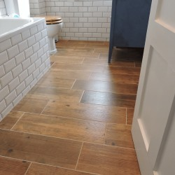 Retro timber 205x615mm