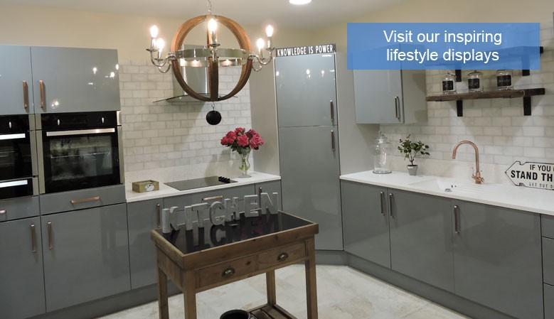 Lifestyle displays at our Norfolk tile and furniture showroom